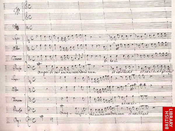 Original score Bach Magnificat